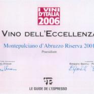 """Le Guide de L'Espresso, """"I Vini d'Italia 2006"""""""