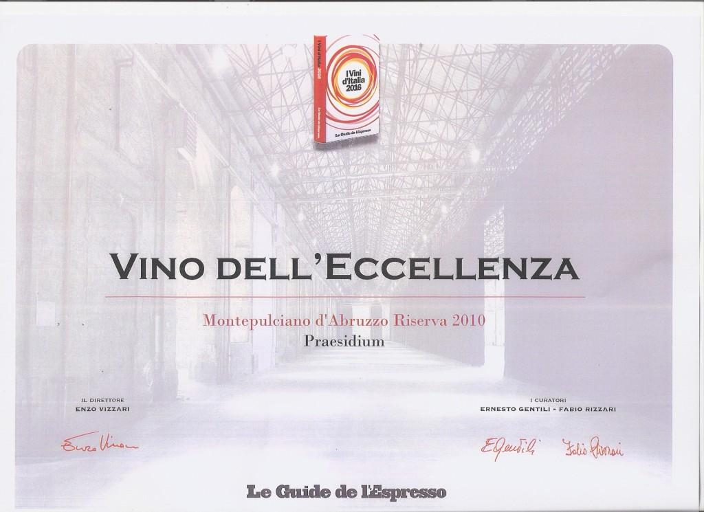 Diploma Eccellenza Ris 2010